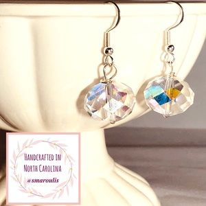Sterling Silver Earrings Glam Austrian Crystal